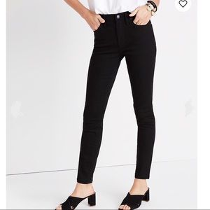 Madewell Skinny High Rise Black Jeans